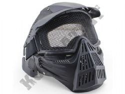 Airsoft Mask Full Face Safety Protection Metal Mesh Eye Goggles Black